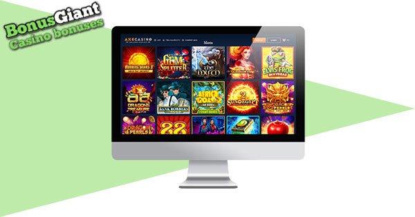 Axe Casino desktop