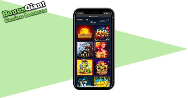 Axe Casino mobile