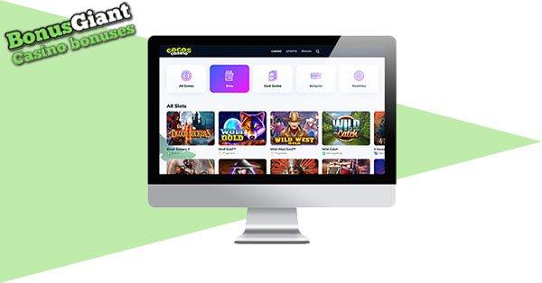 Cocos Casino Desktop lobby