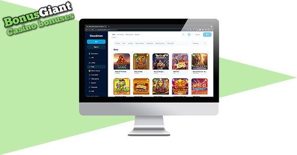 Goodman Casino Desktop screen