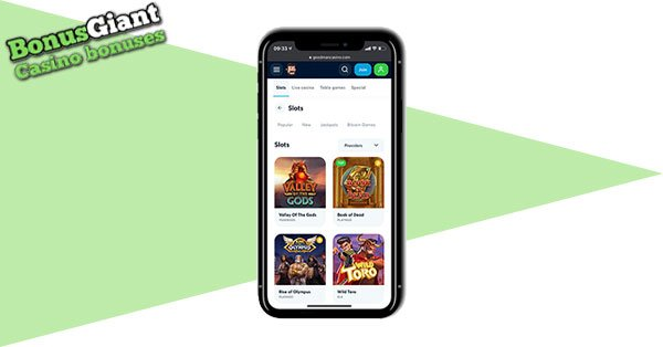 Goodman Casino Mobile screen
