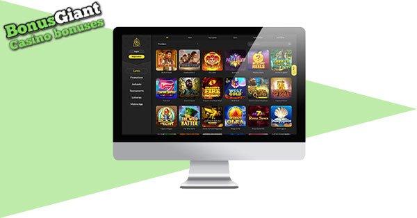 Loki Casino desktop lobby