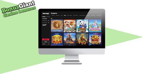 NoLimit casino desktop