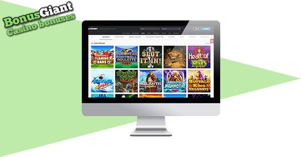 Unikrn Casino desktop