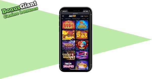 Jet10 Casino Mobile